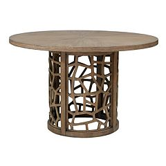 INK+IVY Crackle Round Dining Table by