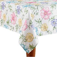 Celebrate Easter Together Floral Print Tablecloth