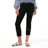 Women's LC Lauren Conrad Crochet Skinny Ankle Jeans