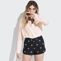 k/lab Floral Print Shorts