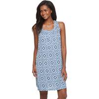Women's Croft & Barrow® Pajamas: Sleeveless Pattern Nightgown