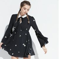 k/lab Polka Dot Fit & Flare Dress