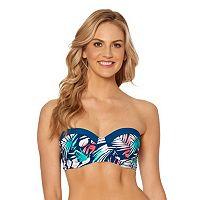 Women's Pink Envelope Palm Leaf Balconette Bikini Top