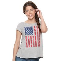 Juniors' Cloud Chaser American Flag Swing Tee