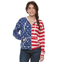 Juniors' Cloud Chaser Patriotic Zip Up Hoodie