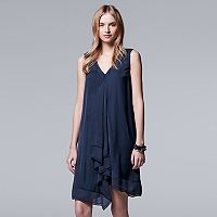 Women's Simply Vera Vera Wang Ruffle Cascade Shift Dress