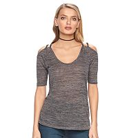 Women's Juicy Couture Strappy Cold-Shoulder Tee