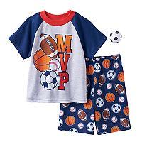 Boys 4-12 MVP Sports 2-Piece Pajama Set