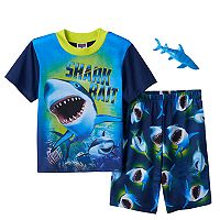 Boys 4-12 Up-Late 2-Piece Shark Pajama Set