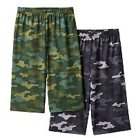 Boys 4-16 Up-Late 2-Pack Camouflage Sleep Shorts