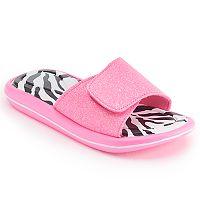 Girls 4-16 Zebra Slide Sandals
