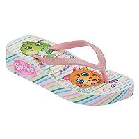 Girls 4-16 Shopkins Kooky Cookie & Apple Blossom Wedge Flip Flops