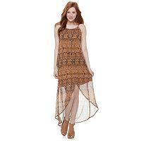Juniors' Mason & Belle Print High-Low Maxi Dress
