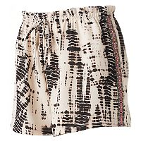 Juniors' About A Girl Tie-Dye Embroidered Side Shorts