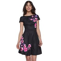 Women's ELLE™ Print Fit & Flare Dress