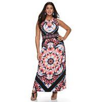 Plus Size Suite 7 Kaleidoscope Halter Maxi Dress
