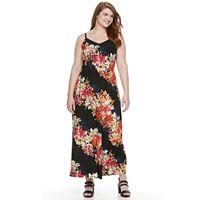 Plus Size Suite 7 Floral Maxi Dress