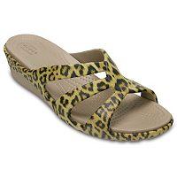 Crocs Sanrah Leopard Women's Wedge Sandals