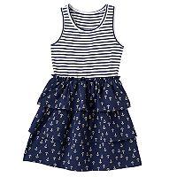 Girls 4-10 Jumping Beans® Patterned Tiered Skirt Dress