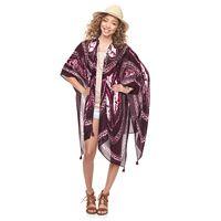Mudd® Tie-Dyed Tassel Kimono