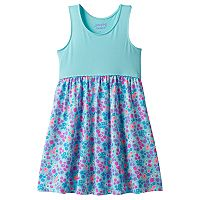 Girls 4-10 Jumping Beans® Pom Curved Waist Racerback Dress