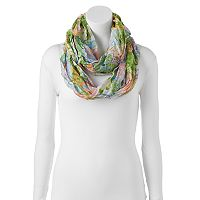 Manhattan Accessories Co. Floral Watercolor Infinity Scarf