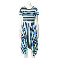Women's ELLE™ Mixed Stripe Fit & Flare Dress