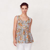 Women's LC Lauren Conrad Pintuck Babydoll Top