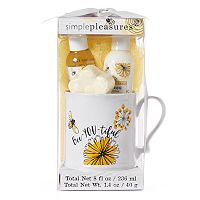 Simple Pleasures Bee- You-Tiful Ceramic Mug Bath Set