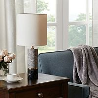 Madison Park Signature Two-Tone Marble Table lamp