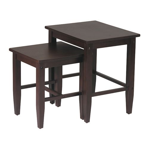 Home Star Products Espresso Nesting Table Set