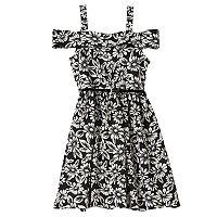 Girls 7-16 Knitworks Belted Cold-Shoulder Floral Marilyn Dress