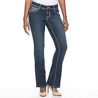Women's Apt. 9® Contrast Embellished Bootcut Jeans