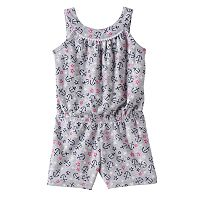 Toddler Girl Jumping Beans® Print Pom-Neck Romper