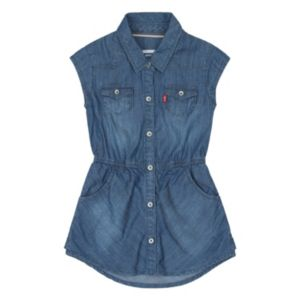 Toddler Girl Levi's Short Sleeve Woven Denim Dress