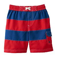 Baby Boy Wippette Striped Swim Shorts