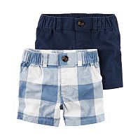 Baby Boy Carter's 2-pk. Solid & Plaid Shorts