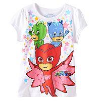 Girls 4-6x PJ Masks Catboy, Owlette & Gekko Star Graphic Tee