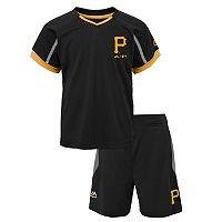 Toddler Majestic Pittsburgh Pirates Legacy Tee & Shorts Set