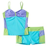 Girls 7-16 Free Country Colorblock Tankini Swimsuit Set