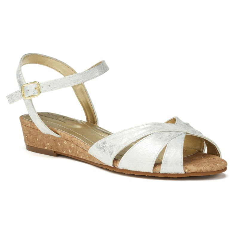 Soft Style by Hush Puppies Midnite Women's Wedge Sandals, Size: 6.5 Wide, White thumbnail