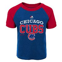 Toddler Majestic Chicago Cubs Game Ringer Tee