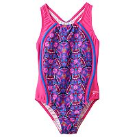 Girls 7-16 Speedo Kaleidescopic Sport One-Piece Swimsuit