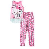 Girls 4-12 Hello Kitty® Phone Pajama Set