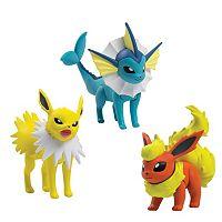 Pokémon Flareon, Jolteon & Vaporeon Action Pose Figure Set