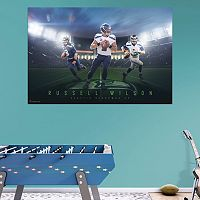 Seattle Seahawks Russell Wilson Montage Mural Wall Decal by Fathead
