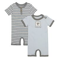 Baby Burt's Bees Baby 2-pk. Organic Honey Bee Shortalls