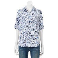 Women's Croft & Barrow® Roll-Tab Shirt