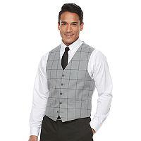 Men's Van Heusen Flex Slim-Fit Plaid Stretch Suit Vest