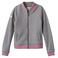 Girls 7-16 SO® Quilted Woven Bomber Jacket